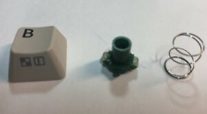 COMMODORE 128 C Replacement Key L With Spring Plunger Keyboard