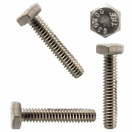 """1//4-20 x 2-1//2/"""" Hex Head Bolts Stainless Steel Fully Threaded Qty 50"""