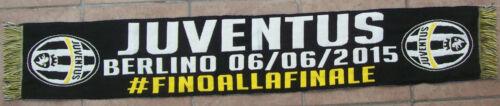 SCIARPA JUVENTUS UFFICIALE FINALE CHAMPIONS LEAGUE BERLINO 06-06-2015 SCARF