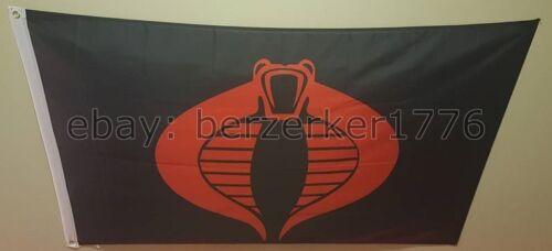 G.I USA Seller Shipper Joe Cobra 3/'x5/' Black Flag Banner