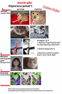 Personalized Pet Portrait/Portr<wbr/>aits or Custom Drawings Original Art by D. Pia.