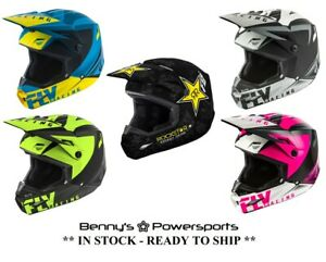 Fly-Racing-Kinetic-Elite-Adult-amp-Youth-Helmets-Offroad-MX-ATV-BMX-Dirt-Bike-Snow