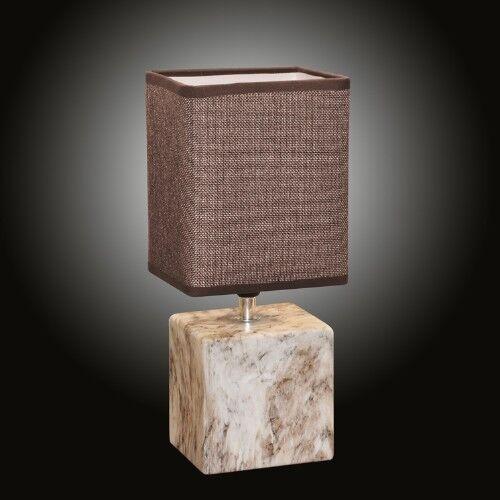 Mármol log-Optik lámpara de mesa marrón noche cómoda lámpara mesa de noche lámpara