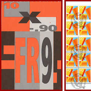 Schweiz-1995-A-POST-Markenheft-Ersttag-Stempel-Mi-0-102y-SBK-0-97