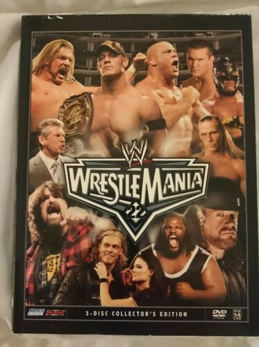 1 of 1 - WWE - Wrestle Mania 22 (DVD, 2006, 3-Disc Set)