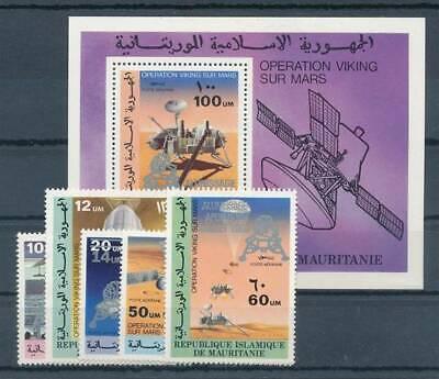 Motive Maurentanien Nr.646-650+bl.25** Raumfahrt Schrumpffrei 176024