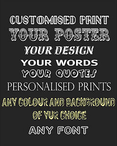 Create Your Own Quote Simple Create Your Own Poster Custom Quote Personalised Art Typography