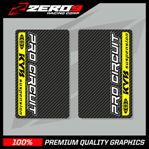 KYB-UPPER-FORK-DECALS-MOTOCROSS-GRAPHICS-MX-GRAPHICS-PROCIRCUIT-CARBON-YELLOW