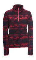 Aeropostale Pink Printed Half Zip Fleece Pull Over Jacket Coat (a1-2)
