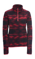 Aeropostale Pink Printed Half Zip Fleece Pull Over Jacket Coat (a1-2)