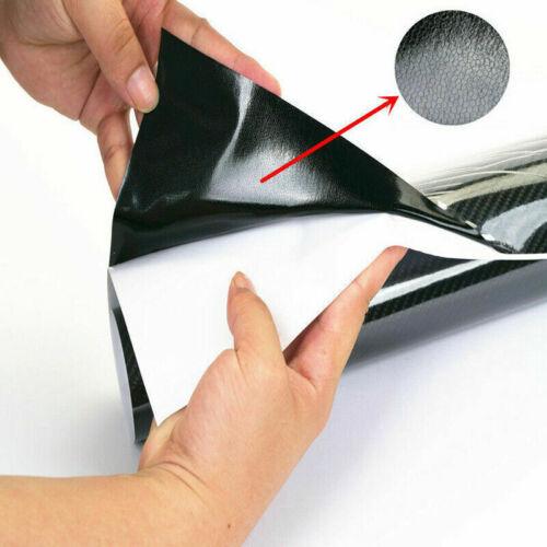 "12/""x60/"" 5D Shiny Glossy Black Carbon Fiber Vinyl Wrap Sticker Decal for Chevry"
