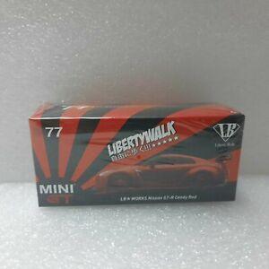 LB Works Nissan GT-R R35 MINI GT 1:64 MGT00077-R Candy red RHD