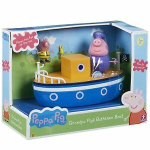 Peppa-Pig-Grandpa-Schweine-Badezeit-Boot-Spielset-Bade-Spielzeug-mit-2-Figuren
