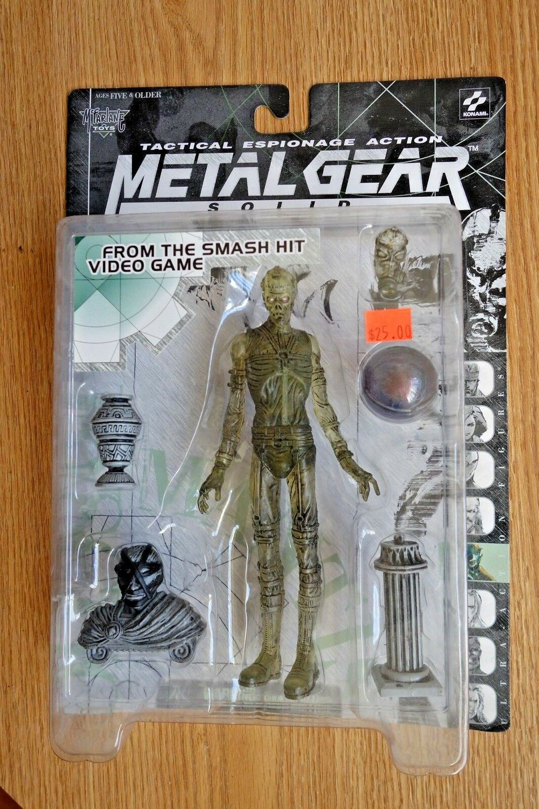 Metal Gear Solid Psycho Mantis Clear McFarlane Action Figure Konami New