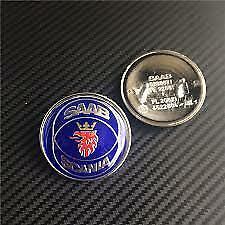 50 mm Saab Scania bleu bonnet badge emblème logo 9000 900 9-3