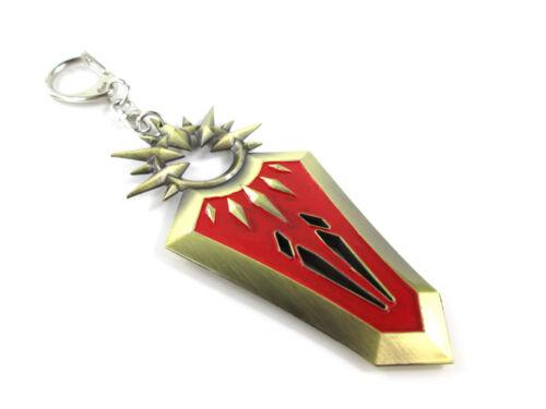 LOL The Radiant Dawn Valkyrie Defender Leona Sword Shield Model Key Chain//Ring