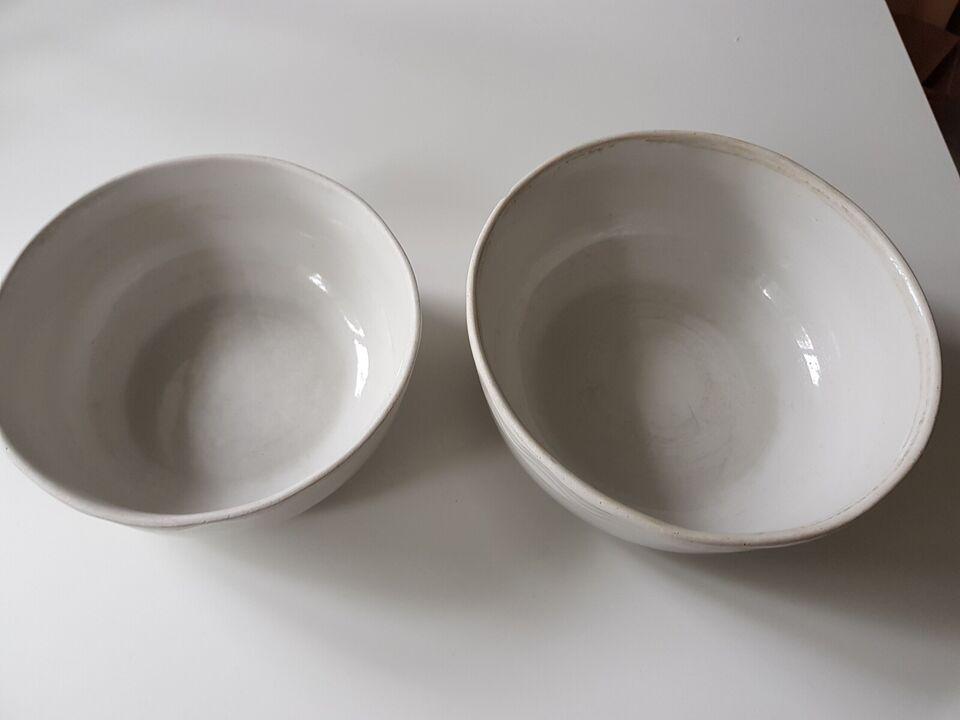 Porcelæn, 2 skåle, anretterskåle