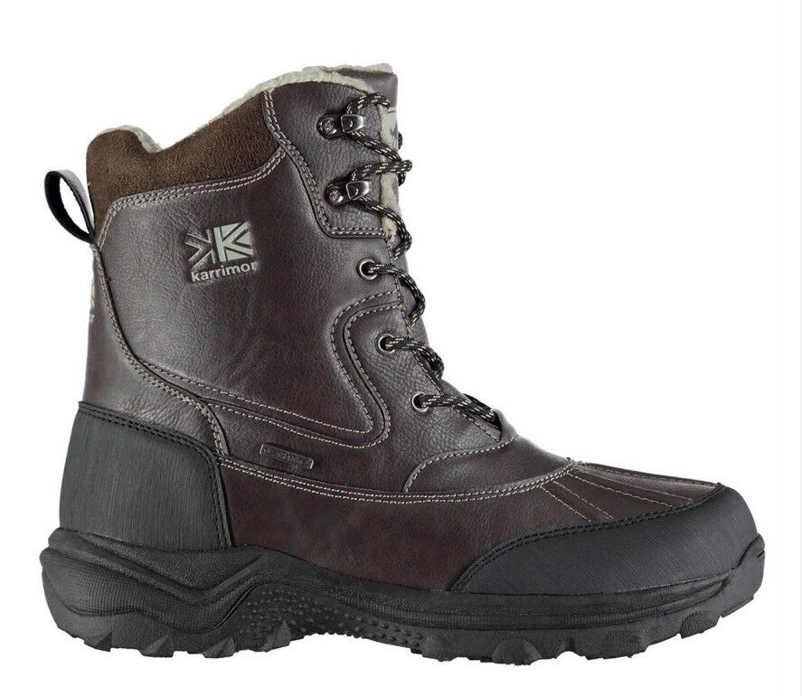 Karrimor Snow Casual Mens 8 Snow Boots Brown Uk Size 8 Mens Mens cad3d8