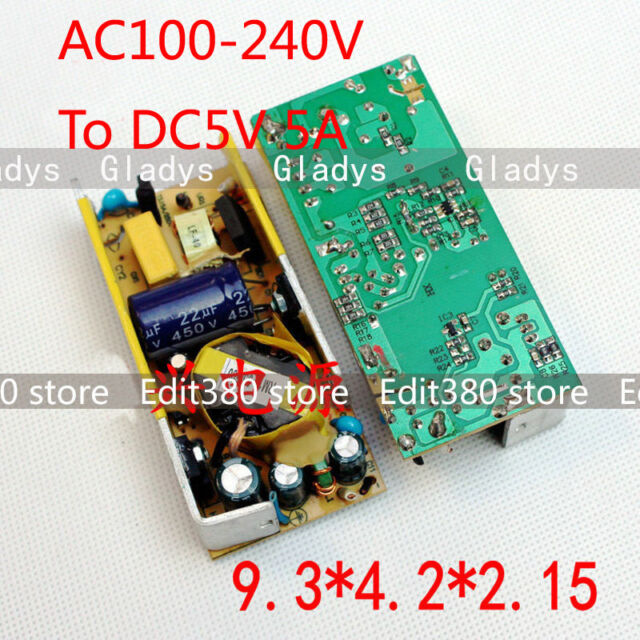 AC / DC Inverter 220V 230V to 5V 5A Converter Power Supply Adaptor pcb board