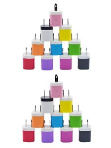 20x Color 1A USB Wall Charger Plug Home Power Adapter FOR iPhone 5 6 Samsung LG