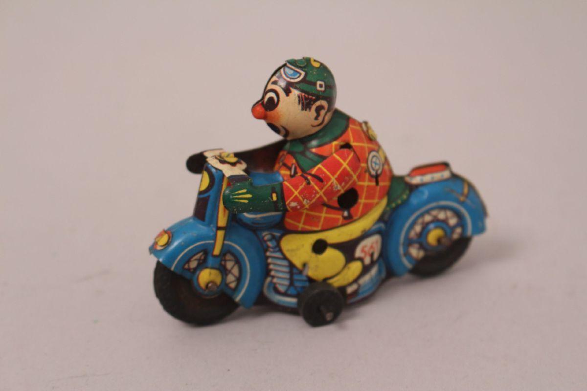 Blechspielzeug Huki HK 561 Motorradfahrer Hammerer & Kühlwein Blech 50er 60er
