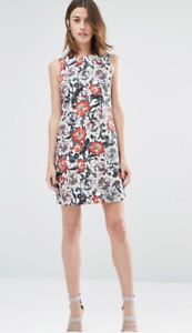 NEW-ASOS-Warehouse-Floral-Shift-Dress-Sizes-8-10