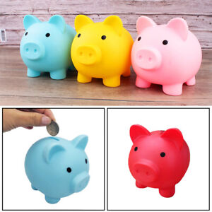 Toy-Kids-Gift-Coin-Money-Save-Openable-Box-Pig-Cash-Tin-Piggy-Bank-Plastic-Cute