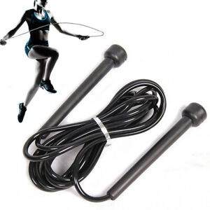 skipping rope 8 ft Long jumping Speed Skipping Rope Black gym rope