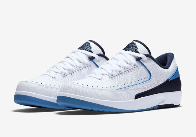c90d94cb139a8 2016 Nike Air Jordan 2 II Retro Low Midnight Navy Size 10. 832819-107 1 3 4  UNC