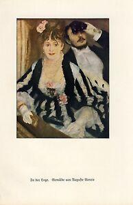 In der Loge Kunstdruck 1927 Auguste Renoir In the Theatre Box Oper Limoges