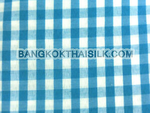 TURQUOISE-BLUE-1-4-034-CHECKERED-BUFFALO-GINGHAM-WOVEN-COTTON-FABRIC-44-034-BTY