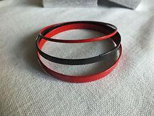 "Collectible Bangle Bracelet Set 3 Red Black Enamel 1/16-1/4"" Wide x 2 5/8"" Acros"