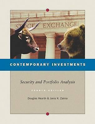 Contemporary Investments : Security and Portfolio Analysis by Hearth, Douglas