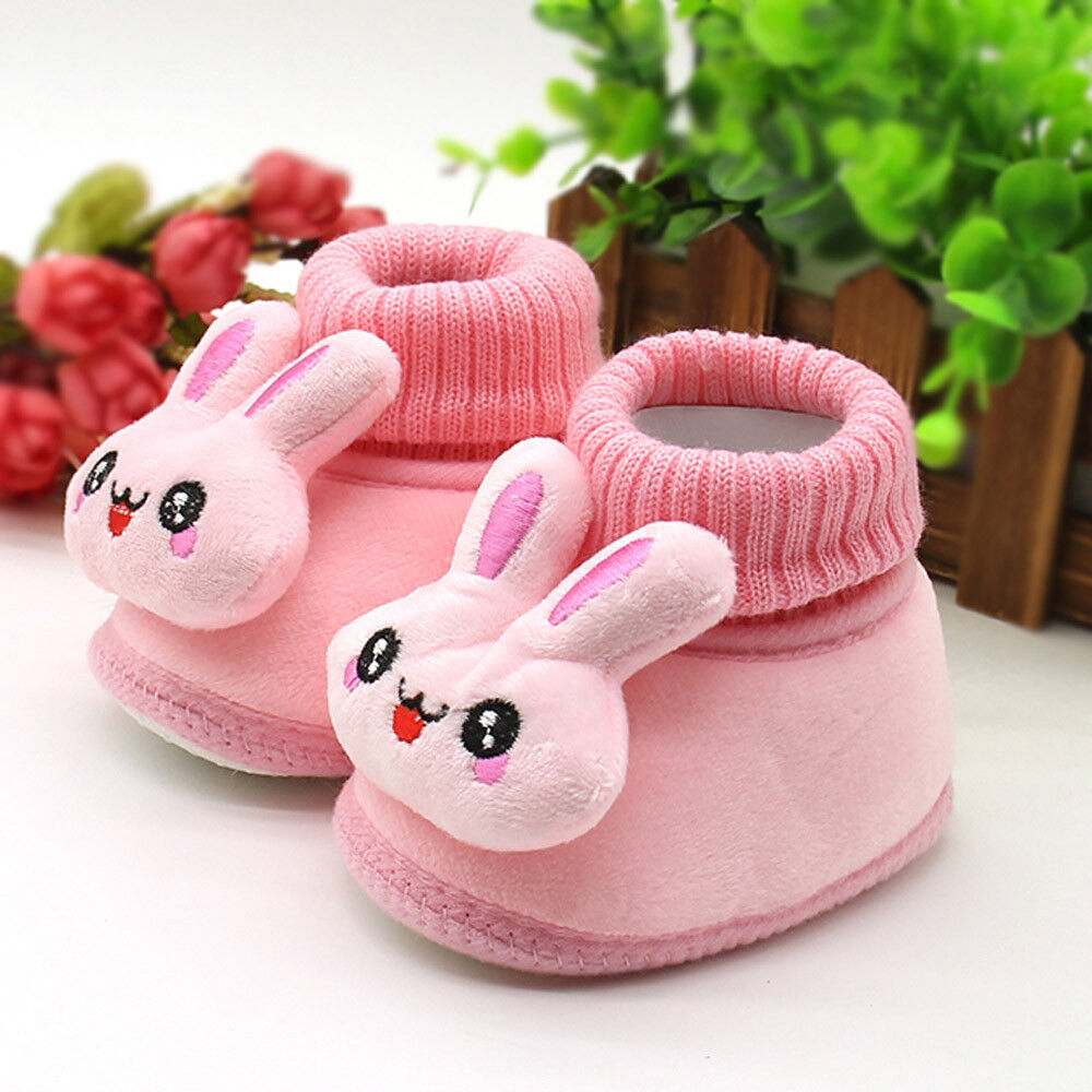 Toddler Newborn Baby Boy Girl CartoCrib Winter Boots Prewalker Warm Cotton Shoes