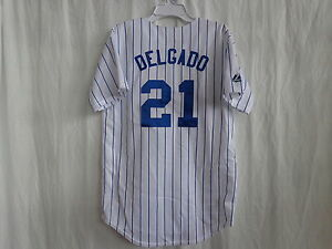timeless design e3ad1 16fbd Details about Carlos Delgado New York Mets YOUTH Majestic Replica Home  Jersey $20 Off SRP NWT