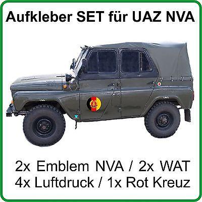 Aufkleber Set für UAZ UAZ469 UAZ469b mit Emblem NVA DDR