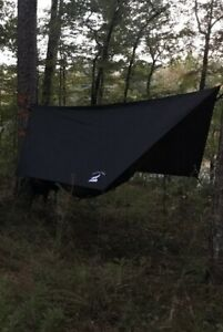 12' Black Wolfpen Outdoors Hammock Tarp and Rainfly