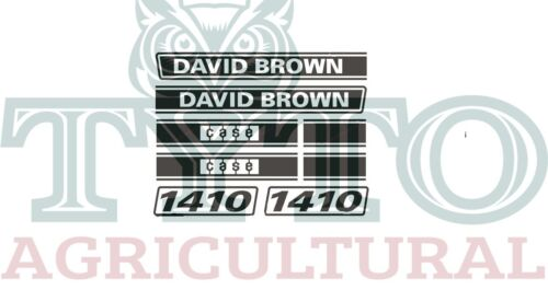 David Brown Tractor 1410 Decal Set