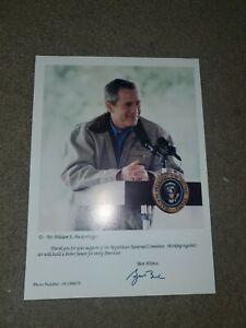 George W. Bush Autographed Picture fron RNC