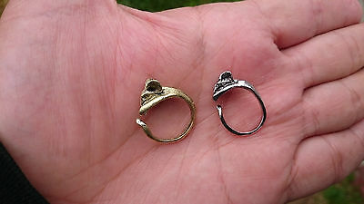 1x Cute MOUSE RING Lady Fashion Costume Party Metal Adjustable Gold Silver