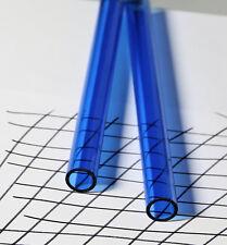 1 Pc 34 Od X 12 Id Clear Blue Acrylic Plexiglass Lucite Tube 24 Inch Long