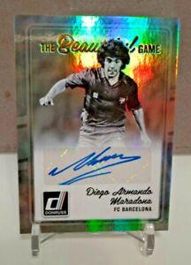 2016-17 Panini Donruss Soccer Diego Maradona Auto Barcelona Autograph SP
