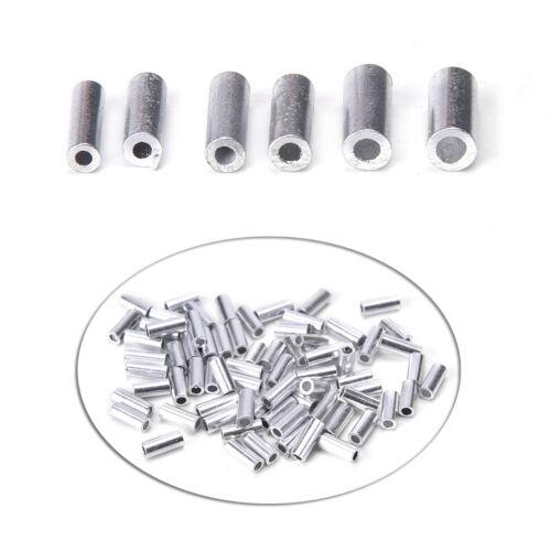 100pcs//bag Aluminum fishing line Crimp sleeve copper tube 1.0mm-2.0mm DHC