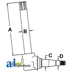John Deere Parts Hd Spindle 40204430 Ar44333sp 4320 Hvy Duty