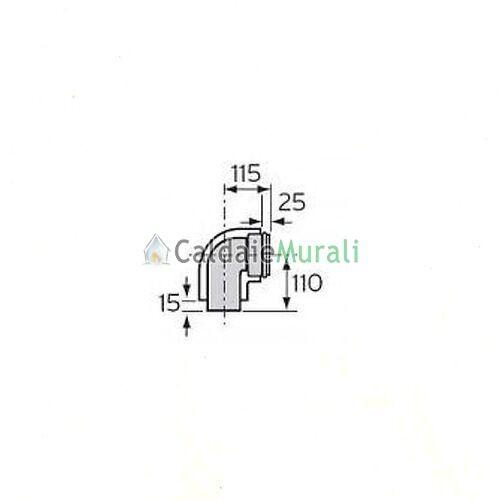 CURVA VAILLANT 87° 60//100MM 0020035240