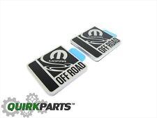 Jeep Wrangler Off Road Badge Emblem Decal Nameplate Set Of 2 With Mopar Logo OEM