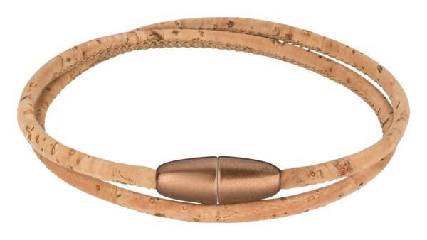 Bracciale Sughero Con Chiusura Magnetica – Bracciale Da Donna In Sughero Avvolgente, Naturale-ss – Damen Armband Aus Kork Wickelarmband, Natur