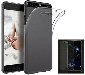 Schutzhuelle-Huelle-Silikon-Case-Handytasche-Silicon-Tasche-9H-Glas-fuer-Huawei-P10