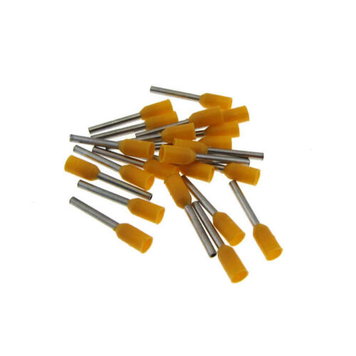100 Insulated Wire Ferrules Terminal Connector 24AWG Orange QTY