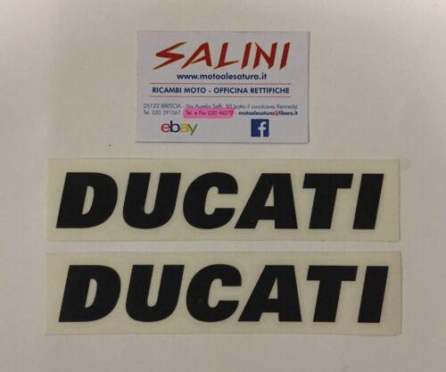 Sticker Adesivo coppia scritta Ducati Nera